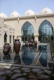 Patio árabe del palacio Fotos de archivo