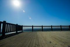 Patio με μια άποψη Στοκ εικόνα με δικαίωμα ελεύθερης χρήσης