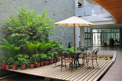 patio σπιτιών Στοκ Εικόνες