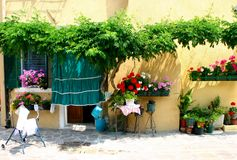 Patio. Street in italy Royalty Free Stock Photography