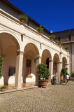 Patio. Of the villa of cardinal Ippolito d`Este, Tivoli, Italy Royalty Free Stock Photos