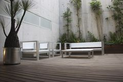 Patio. Modern patio in a mexican apartment in Mexico City Stock Photography