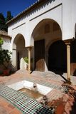 Patio, Alcazaba de Malaga, Hiszpania. Zdjęcie Stock