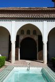 Patio, Alcazaba de Malaga, Spain. Royalty Free Stock Photography
