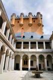 Patio Alcazer, Segovia, Hiszpania zdjęcia royalty free