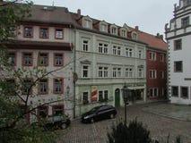 Patio alemán típico Albañil, Alemania imagen de archivo