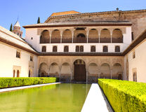 Patio in Alhambra Royalty Free Stock Images