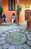 Patio of the ancient jewish house Royalty Free Stock Photography