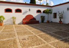 Patio Andalusian cortijo Royalty Free Stock Image
