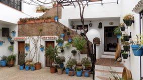 Patio andaluz- Mijas -Málaga-Andalusia-Spain-Europe. Patio andaluz Stock Photos