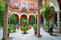 Patio andaluz tradicional Fotografía de archivo libre de regalías