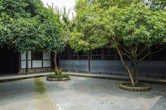 Patio antiguo de Sichuan Imagenes de archivo