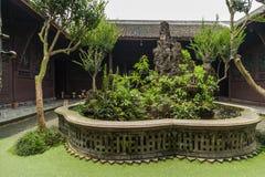 Patio antiguo de Sichuan Fotos de archivo libres de regalías