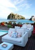 Patio auf Ischia-Insel Stockbilder