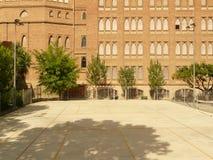 Patio Barcelona de de theresianes de la universidad Imagenes de archivo