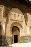 Patio at Ben Youssef Medrassa in Marrakech Royalty Free Stock Photography