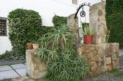 Patio bien del castillo de Olivenza, España Fotografía de archivo