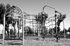 Patio blanco y negro Fotografía de archivo libre de regalías