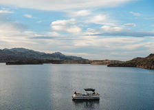 Patio boat, Lake Mohave Royalty Free Stock Images
