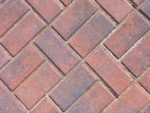 Patio Brick Design. Red patio brick layout Stock Photo