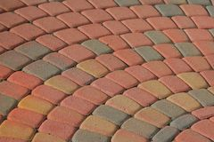 Patio Brick Pattern Stock Photography