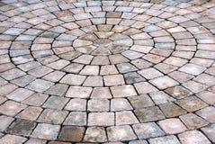 Patio bricks background. Patio bricks in circular pattern Royalty Free Stock Photography