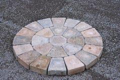 Patio bricks installation Royalty Free Stock Images