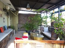 Patio, Campbell House, Georgetown, Penang, Malaysia Royalty Free Stock Photos