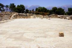 Patio central Phaistos Crete foto de archivo