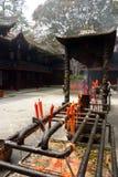 Patio ceremonial, provincia de Sichuan, China Fotografía de archivo libre de regalías