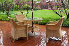 Patio Chairs royalty free stock photo