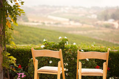 Patio Chairs Overlooking the Country Royalty Free Stock Photography