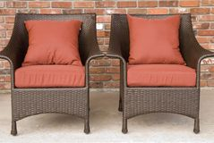 Patio chairs side by side Stock Photo