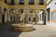 Patio Charity Hospital. The Charity Hospital of Seville is an architectural and artistic summit of Spanish baroque art. The Brotherhood of the Holy Charity Royalty Free Stock Photos