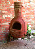 Patio Chimney. Outdoor Fireplace Royalty Free Stock Photography