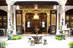 Patio of a Chinese Heritage Home Royalty Free Stock Photography