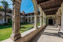 Pula, Croatia, Europe. Patio of Church of St. Francis in Pula, Croatia royalty free stock photos