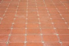 Patio of clay brick tile floor Royalty Free Stock Image