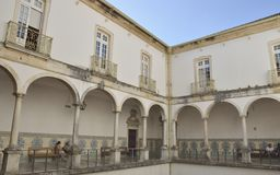 Patio of Coimbra University Royalty Free Stock Photography