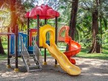 Patio colorido en parque público fotos de archivo libres de regalías