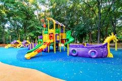 Patio colorido en yarda en el parque Imagen de archivo