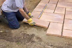 Patio construction Royalty Free Stock Photos