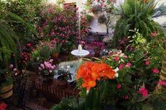 Patio in Cordoba, Spain Royalty Free Stock Photo