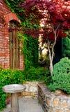 ' patio czerwony kamień Obraz Stock