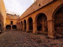 Patio de Armas dans la ville d'Ibiza Images stock