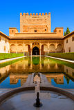 Patio de Arrayanes in the Alhambra de Granada. Royalty Free Stock Photos