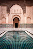 Patio de Ben Youssef Medersa en Marrakesh Marruecos Fotografía de archivo