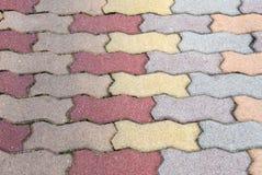 Patio de brique Photographie stock libre de droits