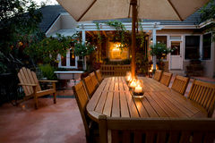 patio de crépuscule Photo stock