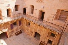 Patio de D'If del castillo francés, Marsella Fotografía de archivo libre de regalías